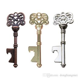 $enCountryForm.capitalKeyWord Australia - gold hot Vintage Key Bottle Opener Antique Key Metal Beer Opener Bronze Skeleton Keychain Bottle Openers Wedding Favor free DHL #Y185