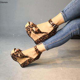 $enCountryForm.capitalKeyWord Australia - Rontic New Stylish Women Platform Sandals Sexy Wedges High Heels Sandals Open Toe Leopard Party Shoes Women US Plus Size 5-15