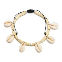 Vsco Puka Shell Anklets For Women Vsco Girl Woven Natural Shells Hawaiian Style Casual Hand Ornament Beach Seashell Anklets