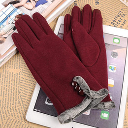 $enCountryForm.capitalKeyWord NZ - Women Fashion Winter Gloves Warm Lined Touch Screen Driving Gloves One size good elastic fit most people Solid