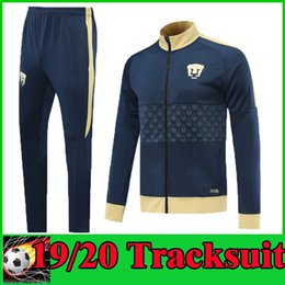 $enCountryForm.capitalKeyWord Australia - 19 20 MX Club UNAM Soccer Tracksuit GUERRON 2019 2020 CALDERON Football Long Sleeve Jacket Pants Camisa de futebol Suit Set Uniform