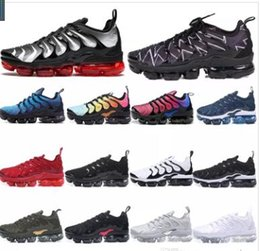 Wholesale Designer Tn Plus Shoes Women Mens Sport Sneakers PURE PLATINUM triple black white cool wolf grey Chaussures Air tns Trainers