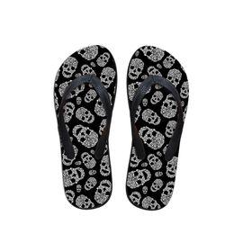 $enCountryForm.capitalKeyWord NZ - Customized Summer Beach Slippers for Men,Man Fashion Skull Print Flip Flops,Custom Designer Male Flipflops Rubber Slippers
