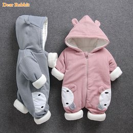 Pure Baby Clothes Australia - 2108 New Russia Baby Costume Rompers Clothes Cold Winter Boy Girl Garment Thicken Warm Comfortable Pure Cotton Coat Jacket Kids J190425