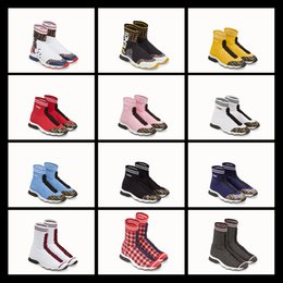 $enCountryForm.capitalKeyWord NZ - 2018 New Fall high top Sock Booties women Sports shoes lacing Speed Trainers Sneakers Elastic Knit Sock High Top Sneakers
