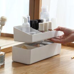 $enCountryForm.capitalKeyWord Australia - Plastic Makeup Organizer For Cosmetic Storage Box Lipstick Holder Stand Make Up Storage Drawer Office Desktop Sundries
