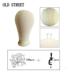 $enCountryForm.capitalKeyWord Australia - 21'' 22'' 23'' 24'' 25'' Canvas Block Head For Hair Extension Lace Wigs Making and Wig Stand Display Styling Mannequin Manikin