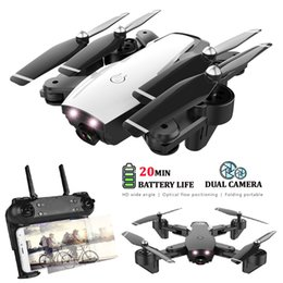 dron camera 2019 - HY107 Quadrocopter WIFI Dron FPV With Wide Angle HD Camera High Hold Mode Foldable Arm RC Quadcopter Drone VS VISUO XS80