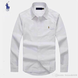 Discount business casual long sleeve polo - New sales of leisure shirts, popular golf horse embroidery business, polo shirts, men's long and short sleeve cloth