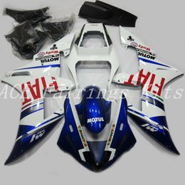 Yamaha R1 Fairings Fiat Australia - 3 Free gifts High quality New ABS motorcycle fairings fit for YAMAHA YZF R1 2002 2003 YZF R1 02 03 bike fairing kits custom blue white FIAT