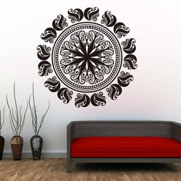 $enCountryForm.capitalKeyWord Australia - 1 Pcs Removable Mandala Wall Stickers PVC Art Murals Indian Religious Pattern Wall Decal For Living Room Home Decor