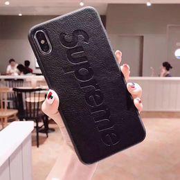 Vente en gros Étui pour téléphone en cuir véritable Top Designer de luxe modèle de cas de téléphone pour iPhone X XS Max XR 6 6 s 7 8 Plus étui iphone