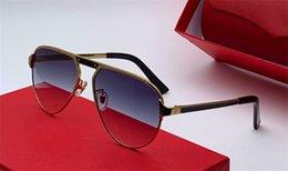 Discount decorative sunglasses - The latest fashion designer sunglasses 0101 pilot metal frame uv400 outdoor decorative eyewear top quality popular simpl