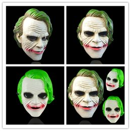 halloween horror mask wholesale Canada - Dark Knight Anime Film Mask Full Face Scary Joker Resin Horror Clown Cosplay Decoration Masquerade Halloween Party Supplies Cosplay Costume