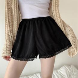 $enCountryForm.capitalKeyWord Australia - Women Satin Half Slip Underskirt Petticoat Under Dress Mini Skirt Safety Shorts Female Loose Anti-exposure Safety Shorts