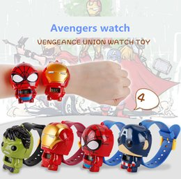 Figures Australia - DHL Hot style watch avengers iron man hulk spiderman captain America action figure metamorphosis toy