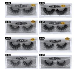 $enCountryForm.capitalKeyWord Australia - 24 hour shipping! 11styles 1pair lot 100% Real 3D MINK Full Strip False Eyelash with box 2019 free shipping Top quality