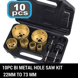 Wholesale 10 Piece Hole Saw Set Bi Metal HSS Holesaw Professional Plumbing Electricians