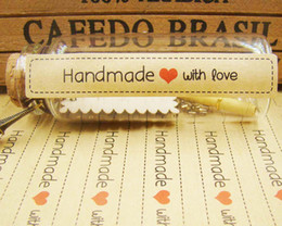 $enCountryForm.capitalKeyWord NZ - 1200pcs Seal Label HandMade with love Kraft seal Sticker Gift Seal Label Paper Sticker For Party Favor Gift Bag Candy Box Dec