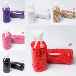 Blue foam Bottle online shopping - 1 Bottle Fashion Decorative Ranbow Assorted Color Polystyrene Styrofoam Filler Foam Mini Beads Balls DIY Decoration