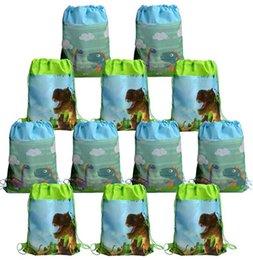 $enCountryForm.capitalKeyWord NZ - Dinosaur Party Favor Bags Pouch Cute Dino Drawstring Backpacks Kids Boys Girls Children's Day Birthday Party Treat Gift Candy Goody Bag