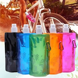 $enCountryForm.capitalKeyWord Australia - Outdoor Sport Hiking 500ML Folding Water Bottle Camping Water Soft Bag Bottle Plastic Lightweight Safe Reusable Ice Packs