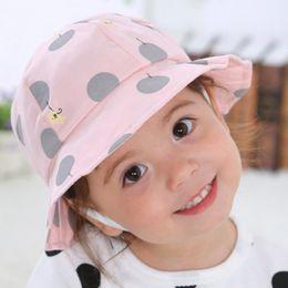 2018 Hot Sale Toddler Kids Sun Cap Polka Dot Baby Bucket Hat Summer Outdoor  Sun Beach Hats Baby Girl Boy Cap Good Gift 5c20ffce7ec9
