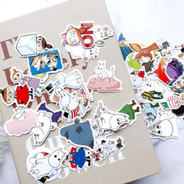 Decorative guitars online shopping - 40PCs Cartoon Lovely Moo min Stickers kids toys book Decorative sticker Car Guitar Refrigerator stickers