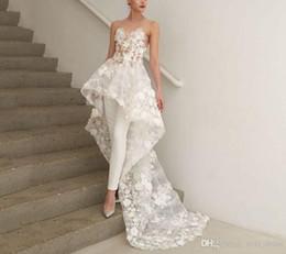 $enCountryForm.capitalKeyWord NZ - 2019 plus size boho a line bohemian high low jumpsuits wedding dresses bridal gowns Abendkleider Vestido De Novia 3D-Floral Appliques