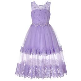 $enCountryForm.capitalKeyWord UK - Kids Girls Party Wear Costume For Children Long Princess Wedding Dress Girls Lace Flower Teens Prom Dresses Christmas Vestidos