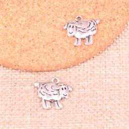 Sheep pendant necklace online shopping - 83pcs Antique Sliver sheep lamb Charm Pendant DIY Necklace Bracelet Bangle Findings mm