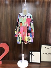 Skirt wind SuitS online shopping - Skirt England The Wind Child Suit Girl Spring And Autumn princess Dress In Child Children Printing Girl Dress