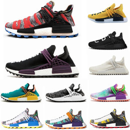 f121b8f59 2019 NMD human race Hu trail x pharrell williams men running shoes Solar  Pack Afro Holi Blank Canvas mens trainers women sports sneaker