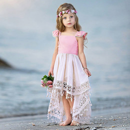 4831a571cedce Toddler Baby Girl Kids Summer Clothes Backless Party Lace My Princess  Tassel Dress Clothes Vetement Enfant Fille