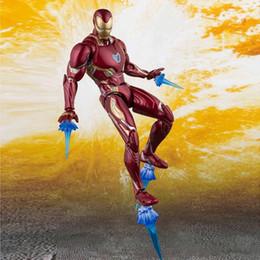 Bones Figures Australia - HOT The Avengers 4 Endgame SHF Ironman MK50 SHF Infinite war Steel bone The Flash model movable boxed Toy Action Figure Model