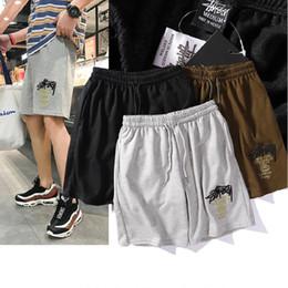 Venta al por mayor de Venta caliente diseñador para hombre pantalones cortos nueva moda de algodón stussys de los hombres Breechcloth bordado 19ss deportes casual suelta hombres y mujeres Verano pantalones
