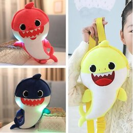 $enCountryForm.capitalKeyWord NZ - BABY SHARK Kids Music Led School Bags One-Shoulder Backpack Lighting&Singing Book Bags Shinning Plush&Stuffed Toys Totes Party Favor C71002