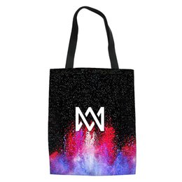 wholesale custom canvas prints NZ - THIKIN Marcus and Martinus Print Shopping Bag Reusable Shoulder Bags for Women Girls Casual Large Canvas Tote Ladies Custom 2019