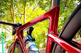 Customized new road bike carbon frame with handlebar stem carbon bicycle disc brake thru axle 100*12mm 142*12mm can DPD XDB ship on Sale
