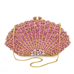 $enCountryForm.capitalKeyWord UK - New Lady's Crystal Evening Bag Small Chain Candy Color Shell Bag Women's Day Clutch One Shoulder Cross Body Bag