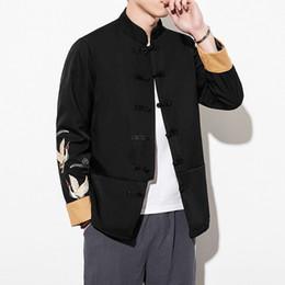 $enCountryForm.capitalKeyWord Australia - Chinese Style Fish Embroidery Jacket Men Hip Hop Bomber Jacket Men Japanese Streetwear Mens Jackets Coats 2019 Autumn