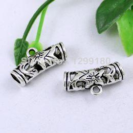 Pendant Bails Australia - cord end 30pcs lot Zinc Alloy Silver Tone Charm Pendant Bails Cord end For Necklace DIY Jewelry Making Accessories 22x11mm Hole:5mmK01918