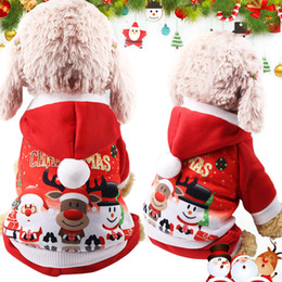 Cute Outfits For Spring Australia - New Christmas Dog Clothes For Small Dog Pet Xmas Costumes Coat Clothing Cute Puppy Outfit For Dog Plus Sizes