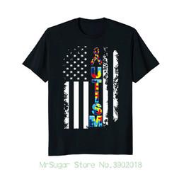 8c3d610d3 Autism T Shirt Australia - Strong Autism Awareness T-shirt - American Flag  Distressed New