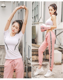 $enCountryForm.capitalKeyWord Australia - New woman t-shirt+bra+pants 3pcs Tracksuits sportswear Yoga clothing designer casual girl running fitness suit Boxing Sexy sports #00158