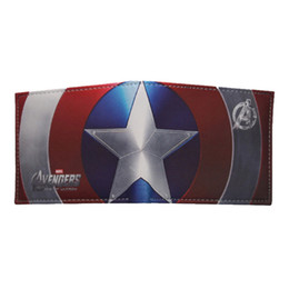 Superhero ShieldS online shopping - Huimeng Comics Marvel Avengers Superhero Captain America Shield Faux Leather Bifold Wallet Id Cash Purse Gift For Children