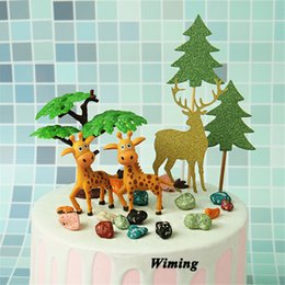 $enCountryForm.capitalKeyWord Australia - giraffe cake topper birthday party supplies party gifts for girls kids children baby toys cake decorating animal cupcake toppers