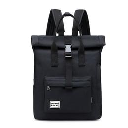 $enCountryForm.capitalKeyWord UK - 2019 Fashion Youth Backpack Personality Casual Canvas Bagpack Unisex Large Capacity Tablet Bag Student Bag (Black)