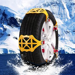 security chain 2019 - Quelima Safe Guarding Car Snow Tire Chains Universal Black Steel Security Anti Slip Tire Snow Chains Car Accessories che