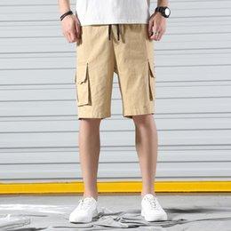 $enCountryForm.capitalKeyWord Australia - 2019 casual short pants 100% cotton summer fashioin man clothing half pants-knee length size M to 5xl